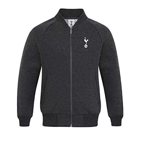 Tottenham Hotspur Officiel - Veste de Baseball Style université - rétro/thème Football - Homme - Gris Anthracite/Gris - S