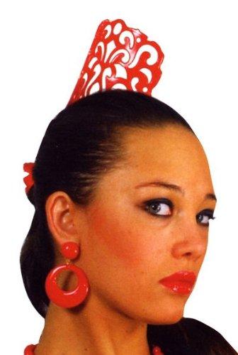 Aptafêtes - AC0144 - Peigne andalou rouge Modèle Aléatoire