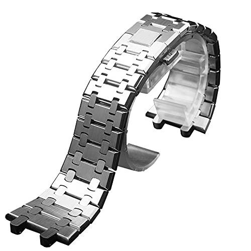 Cinturino in acciaio inox per AP Royal Oak ap15400 Cinturino da uomo 26 mm