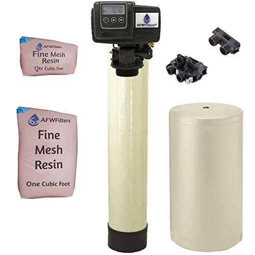 IRON Pro 2 Combination water softener iron filter Fleck 5600SXT digital metered valve for whole house (40,000 Grains, Almond)