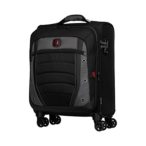"Wenger Wenger Synergy 20"" Expandable Softside Luggage Carry-On - Grey/Black Maleta, 54 cm, 48.4 Liters, Negro (Black/Grey)"
