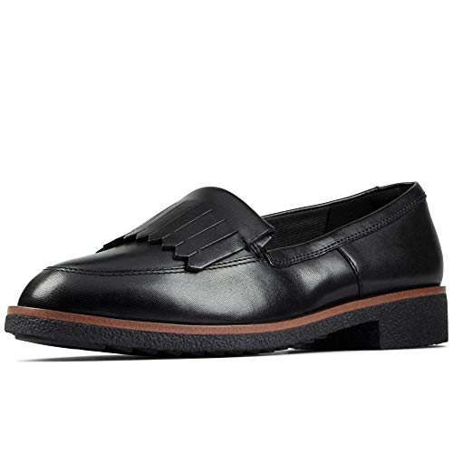 Clarks Griffin Kilt, Mocassins (Loafers) Femme, Noir (Black Leather Black Leather), 38 EU