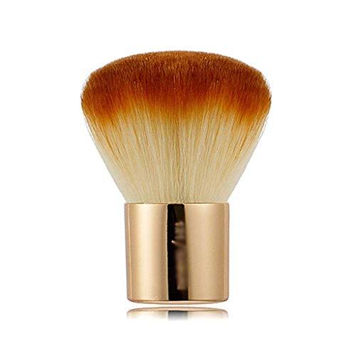 FZJDX Poignée métallique Visage Moelleux Poudre Blush Brosse Golden Portable Maquillage Brosse Petit Champagne Outils cosmétiques en Poudre en Vrac