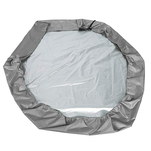 fuwinkr Sandbox Canopy, Snow Proof Tear‑Resistant Sand Pit Cover, Durable for Outdoor Sandbox(Gray, 14011020cm)