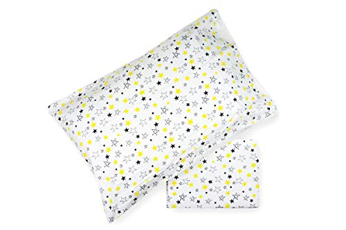 R.P. Daunex dekbedovertrekset voor babybed, afmetingen: Letino – 100% katoen, gemaakt in Italië, 100 x 135 cm, sterren