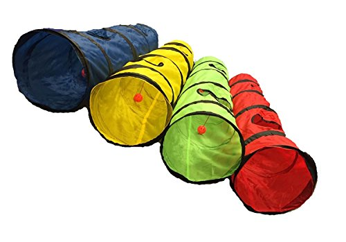 Shop4Omni Kitty Cat Play Tunnel Pet Toy - Four Exit Holes - 4 Feet...