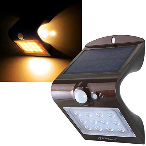 オンロード(OnLord) ソーラーライト 人感 センサーライト 屋外 暖色 電球色 LED OL-305D ブラウン