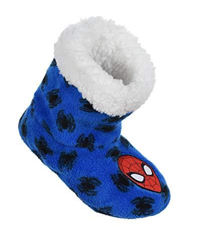 Chaussons - Bottes d'intérieur Enfant garçon Spiderman Marvel Bleu du 25 au 32 (EU, numeric_25)