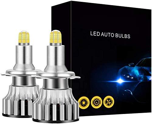 Bombillas LED para Faros Delanteros H7, 24 CSP 8 Lados Iluminación LED de 360 Grados para Coche, 120W 18000LM 6500K Bombillas de luz antiniebla Lámparas de automóvil 2 uds para Exteriores