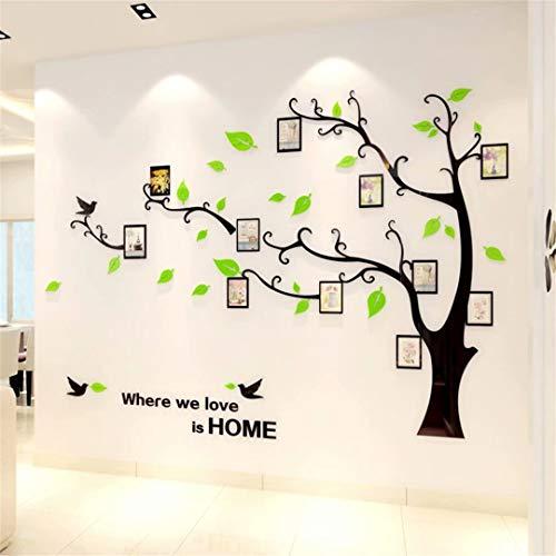 Árbol Pegatinas de Pared - 3D Árbol Familia Marco de Fotos DIY Murales Stickers Decoración para Salón, Dormitorio, Oficina, Habitación