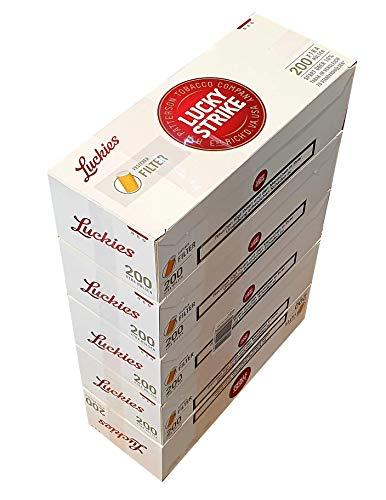 LUCKY Strike Hülsen 1000 Stück (5x200) (Hülsen, Filterhülsen, Zigarettenhülsen)