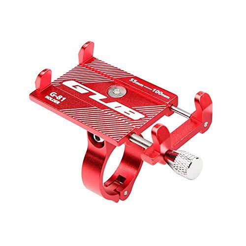 KOBWA Soporte para teléfono móvil GUB Bike, Aleación de Aluminio Soporte para teléfono de Bicicleta Ajustable Universal para Manillar de Bicicleta para iPhone XR, iPhone 8/8 Plus, Samsung etc.