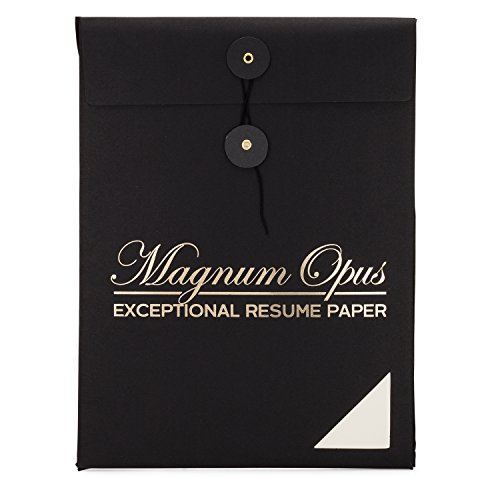 Watermark-free Resume Paper by Magnum Opus   50 sheets   Exceptional ivory 28 lb 8.5x11   Ideal stationery for professional/executive resumes letterhead and interviews