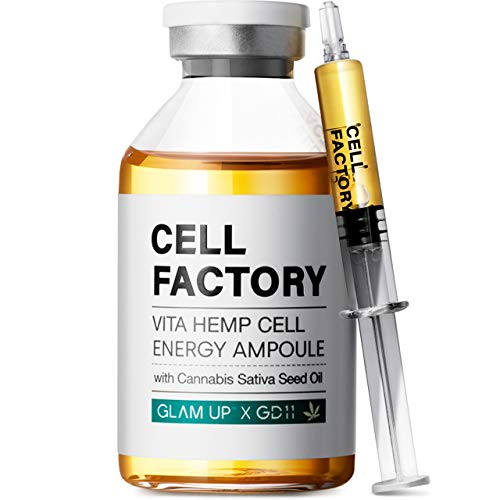 Glam Up x GD-11 VITA HEMP Cell Energy Ampoule Serum for face, Anti Aging, Brightening, with...