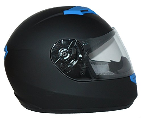Protectwear Motorradhelm V121-BL schwarz-blau matt – M - 7
