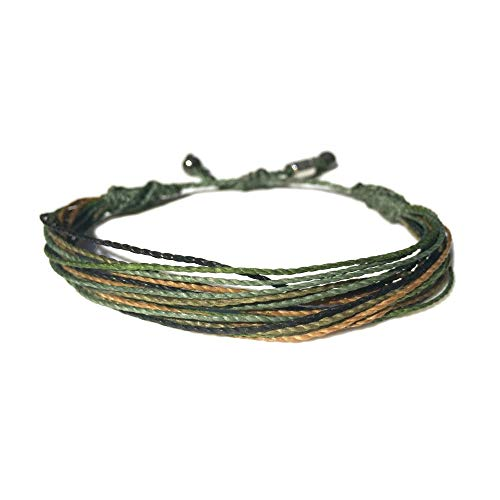 Camouflage Camo Army Bracelet Military Green String Cord Adjustable for Men and Women