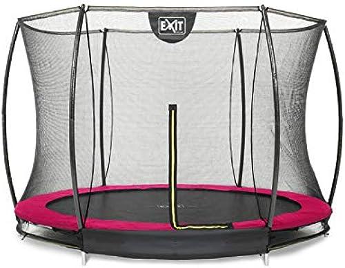EXIT Silhouette Bodentrampolin  4cm mit Sicherheitsnetz - Rosa