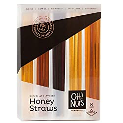 Box of honey straws in 5 flavors to add to Rosh Hashanah gift care package.