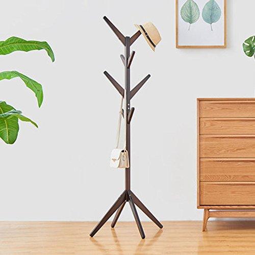 WLH- Eenvoudige Slaapkamer Kapstok Wood Hanger Floor Simple Kleding Shelf Thuis Simple Modern Europees (Color : Black)