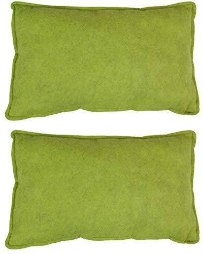 Filz-Kult Sitzkissen für Bierzeltgarnitur, 2 Stück, grün-meliert, Bierbank-Auflage, Filz-Kissen, Bank-Polster, Garten