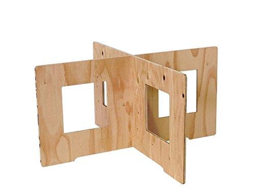 (木芸社)コンパネ作業台(針葉樹合板製) X脚 組立て式 ペケ台・コンパネ・簡易台・BBQ (H450×W900mm(2組セット))