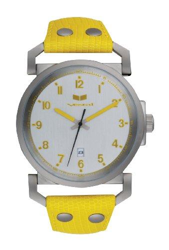 Vestal 'Observer' OBR017 - Reloj de Caballero de Cuarzo, Correa de Piel Color Amarillo