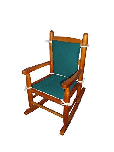 Baby Doll Bedding Suede Junior Rocking Chair Cushion, Seafoam
