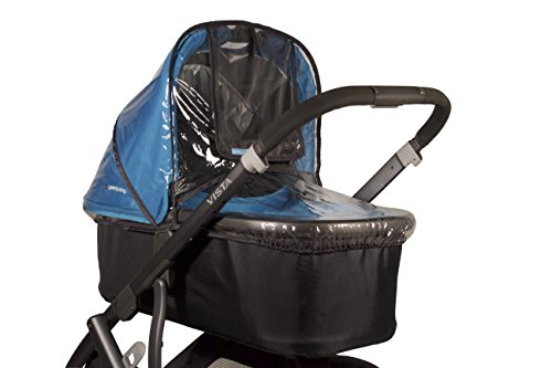 UPPAbaby Bassinet Rain Shield UPPAbaby Side vents ensure maximum ventilation and comfort, Phthalate-free PVC Easy to attach, remove, and clean Convenient handle opening for easy transport 4