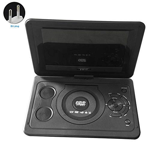Reproductor de DVD portátil de 13,9 pulgadas, reproductor de TV portátil con altavoz, reproductor de DVD para automóvil, batería recargable,cargador para automóvil, reproducción 3D, radio FM