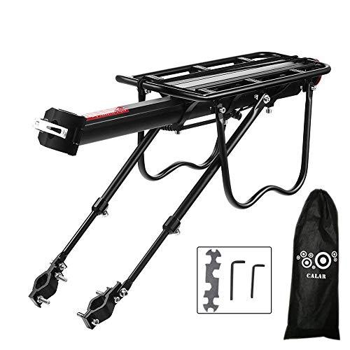 FOCHI Portaequipajes Bicicleta Trasero, Ajustable Bicicleta Portabultos MTB Aluminio con Reflector y Guardabarros Carga Máxima 50 kg