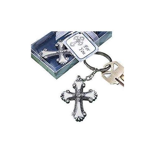 24 Baptism Party Favors Keepsakes Keychains Recuerdos de Bautizo nino St Jude