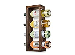 Rustic State Sonoma Wood Wine Rack Wall Mounted Bottle Holder