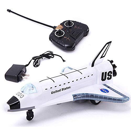 2.4G Nuova lega di innestazione giocattoli di innovatore elettrico aereo deliante del deltaplano Spazio del telecomando Shuttle Shuttle Aviazione civile Airbus Modello Lampeggiante Luci Lampeggianti S