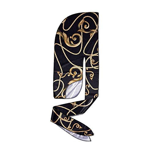 KISS RED Bow Wow Power Wave Luxe Design Durag HDUPPL01 (Black Gold)