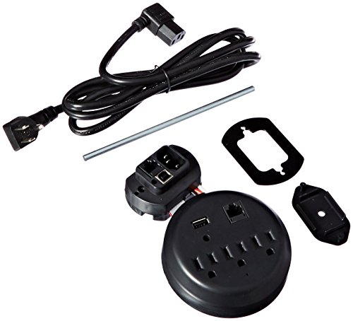 Liberty Safe Power Outlet Kit for Interior Safe Accessories with USB and Ethernet for Dehumidifiers and Lights