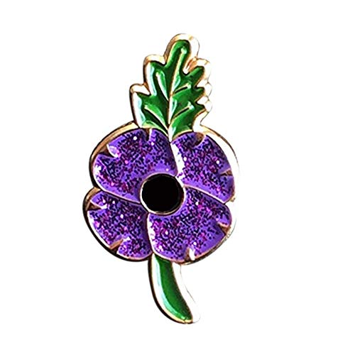 HHY-X British Army Military Veteran Soldier Remembrance Sunday Red Poppy Enamel Pin Badge Brooch