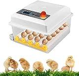AYCPG Dual Power incubatrice dell'uovo, Tornio Automatico for Design e Ventilatore Incorporato, con l'uovo Candler Adatto a Tutti i Tipi di pollame, Uova 16 * lucar