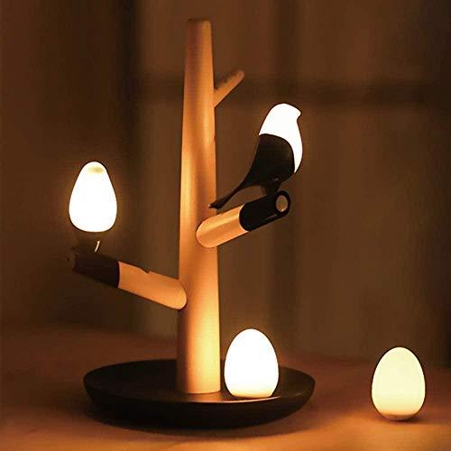 Luz de noche Decoración de sala de estar Luz de noche LED Inducción inteligente del cuerpo humano Control magnético Lámpara de mesa de atenuación Carga USB Luz de noche