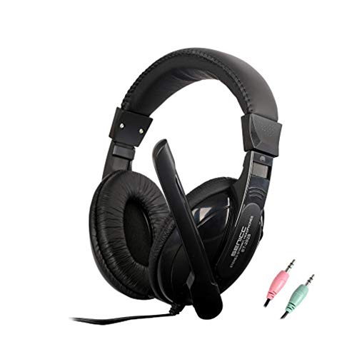 Buy Bargain EDCM Headset,Headset, Notebook Desktop Headset, Head-Mounted Gaming Dual-Hole Headset,