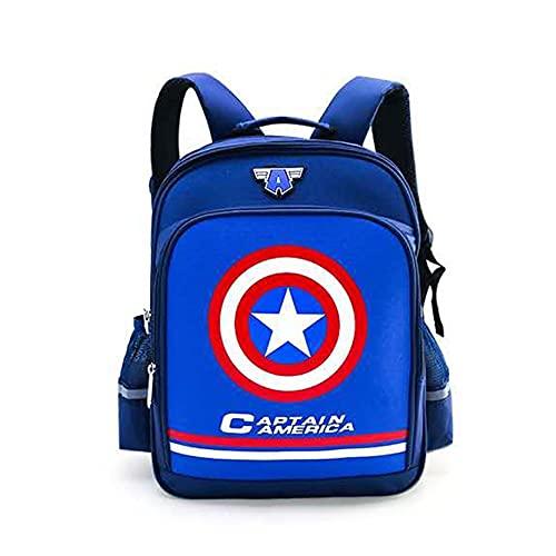 Xyh723 Mochila Infantil Capitán América Escolar Niños Superhéroe De Dibujos Animados Viajes Al Aire Libre Satchel Adolescentes Fan De Películas Almuerzo Regalo,Blue-One Size