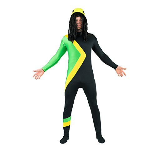 Bodysocks Jamaican Bobsleigh Cool Running's Fancy Dress Costume (Large)