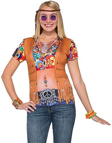 FORUM Novelties 77157 T-Shirt instantanément Hippie pour Femme (UK 10–14)