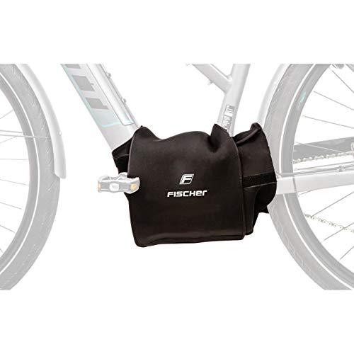 FISCHER Schutzhülle für Motor-Schutz, E-Bike Mittelmotor, Neopren, schwarz, Schutz vor Nässe, Staub und Schmutz, universelle Anbringung