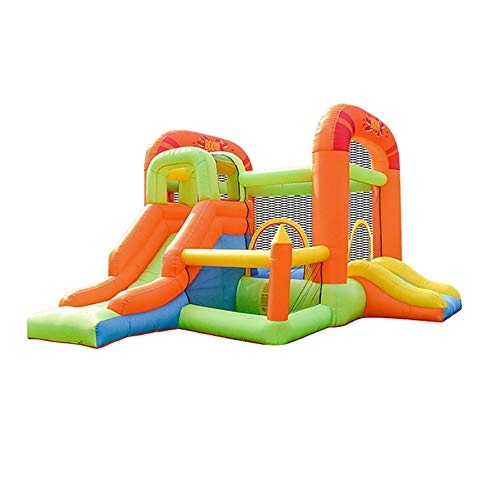 YBWEN Castillos hinchables Patio Inflable de Salto de Cama abatible Cama Inflable Salto de los niños Castillo Inflable Castillo Inflable (Color : Orange, Size : 385x255x230cm)