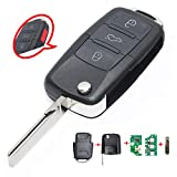 Beefunny 315MHz ID48 Chip 1K0 959 753H Replacement Complete Remote Key 3+1 Button for Volkswagen (1)