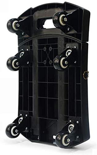 gengxinxin Klappbar Einkaufstrolleys Verstellbarer Griff Einkaufstrolley Einkaufskörbe Wagen Zusammenklappbar Einkaufswagen Mit Rädern Shopping Camping Transportwagen 31 cm * 11 cm * 44,5 cm-schwarz