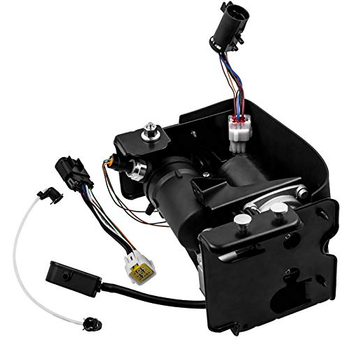 Handor 949-099 4J-0003C Air Ride Suspension Compressor Pump Compatible with 2001-2016 Chevy Avalanche Suburban Tahoe Cadillac Escalade GMC Yukon Replacement# 15254590 949-001, with Wire Harness