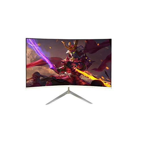 YILANJUN Monitor 27' (Full HD, HDMI + VGA, IPS Pantalla Recta / (1800R) Curvade 75/144 Hz, Filtro de Luz Azul y Protección para Los Ojos), Color Blanc