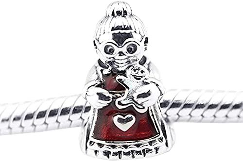 VVHN Novelty Bracelets Titanium Steel Bangle Winter Thread Beads Santa Claus Beads Fits Pandora Charm DIY Bracelets Fits for Jewelry Making