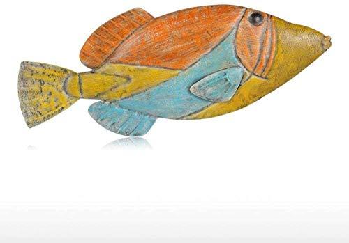 OFJM Estatuas Decoración de Pared de Pescado decoración de Pared de Hierro Decoraciones Creativas artesanía Colgante de Pared Vida Marina Accesorios de decoración del hogar